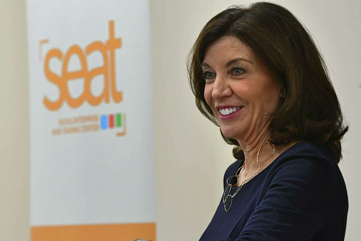 Lieutenant Governor Kathy Hochul announces that the SEAT (Social Enterprise And Training) Center is receiving $200,000 from the Workforce Development Initiative Funding Awards on Monday, March 9, 2020 in Schenectady, N.Y. (Lori Van Buren/Times Union)