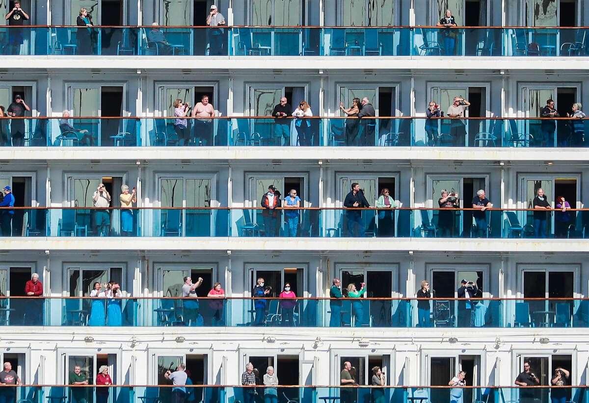 The Grand Princess cruise ship on March 9, 2020 in San Francisco, California.