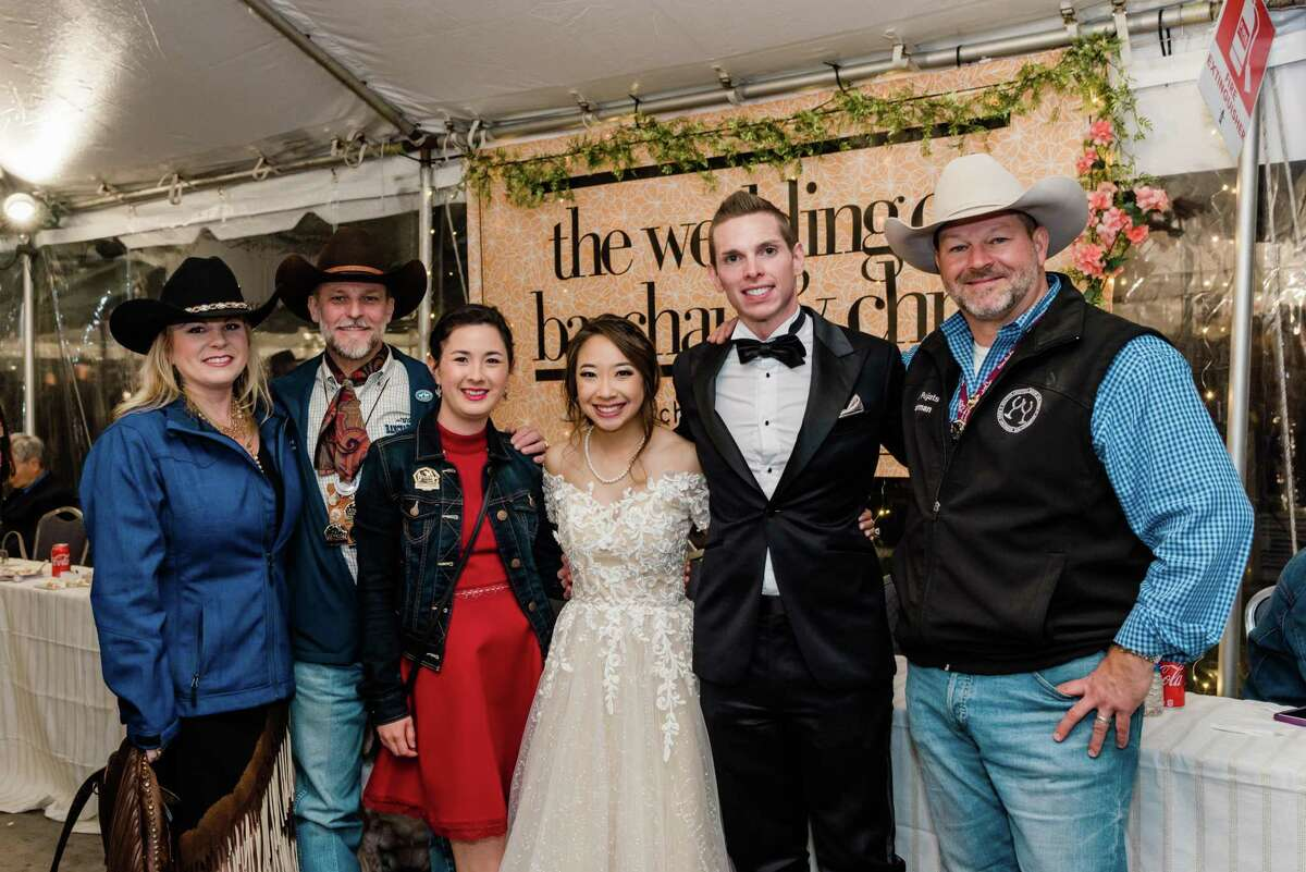 Chris and Baochau Handley tie the knot at RodeoHouston.