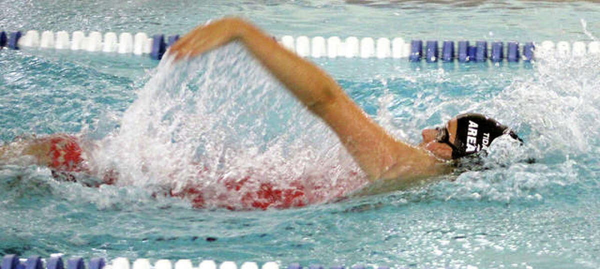 Anna Moehn of the Tri-City Area Tidalwaves posted seven individual first-place finishes at the recent Heartland Regional meet sponsored by Tri-City Area Tidalwaves at Principia College. Noah Clancy and Erick Humphrey also had seven wins each.
