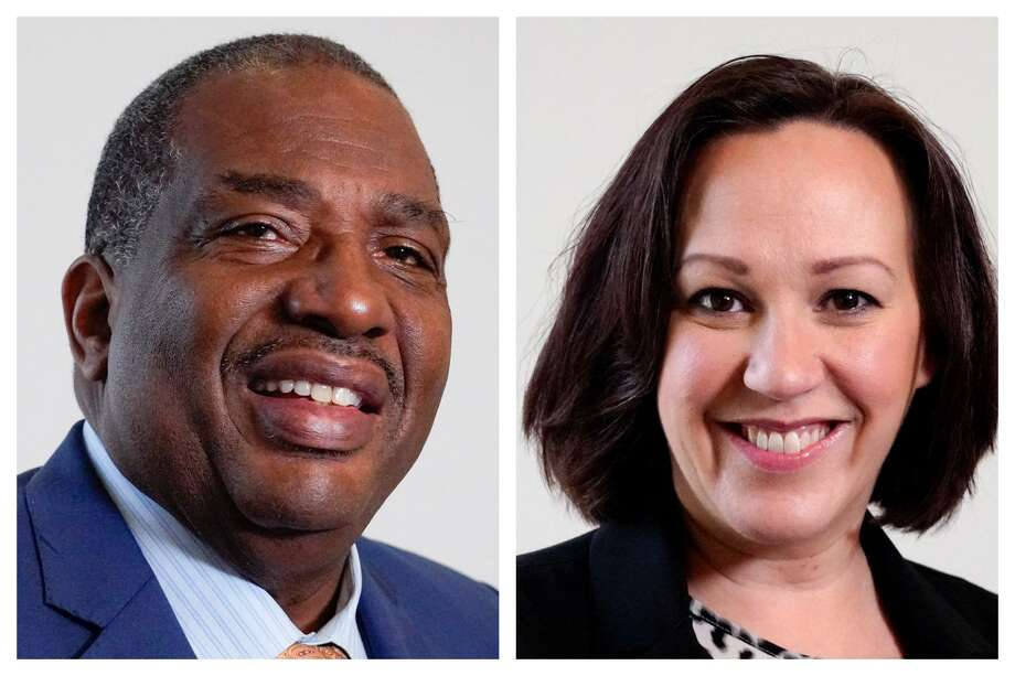 Longtime state Sen. Royce West of Dallas and decorated Air Force pilot MJ Hegar of Round Rock will compete in a May 26 runoff for the Democratic nomination for U.S. Senate. The winner will face veteran Republican Sen. John Cornyn in November. Photo: JILL KARNICKI / HOUSTON CHRONICLE