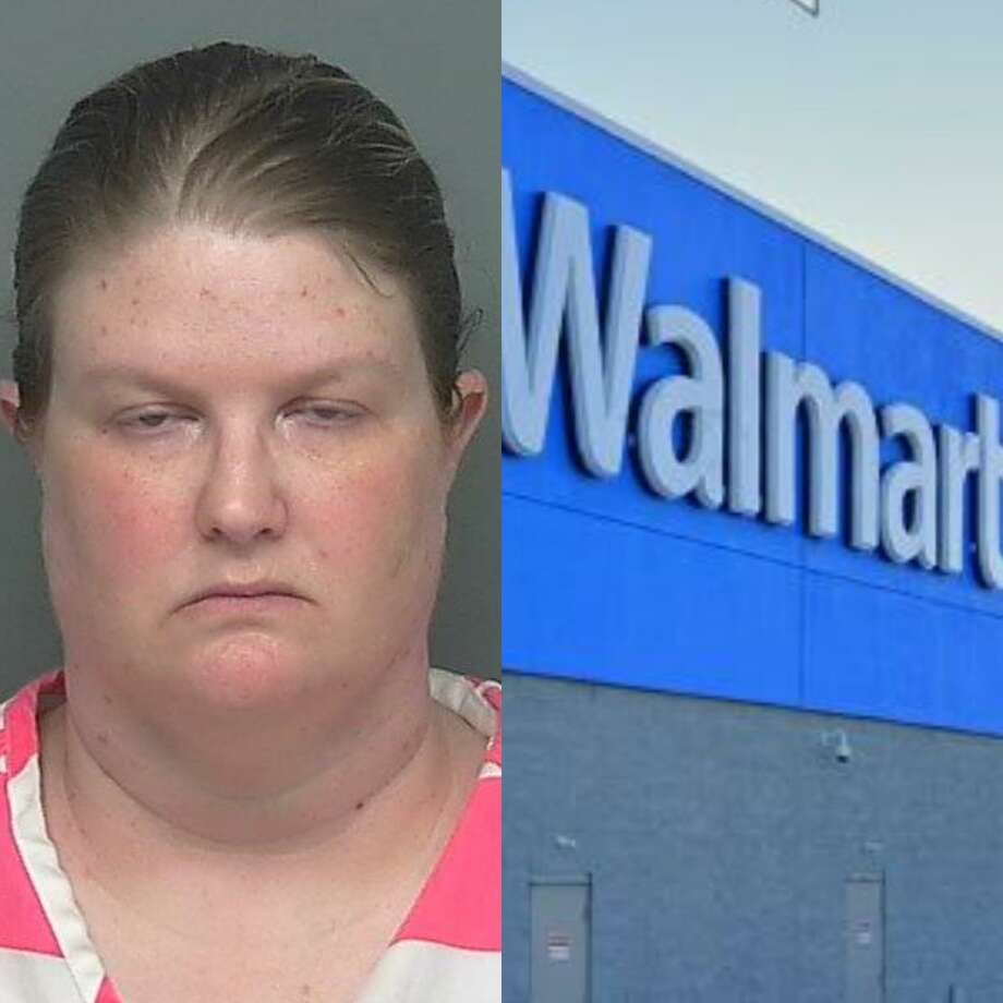 Rhiannon Ballard Petty, 41, of Shepherd, is being charged with improper relationship with a student, a second-degree felony. Court records show the alleged victim said Petty performed a sexual act at a New Caney Walmart. Photo: Courtesy Of The Montgomery County Sheriff's Office And Google Maps