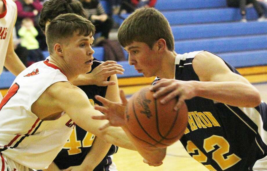 The Kingston boys basketball team advance to the second round of district play on Monday night with a 72-33 win over North Huron. Photo: Mark Birdsall/Huron Daily Tribune