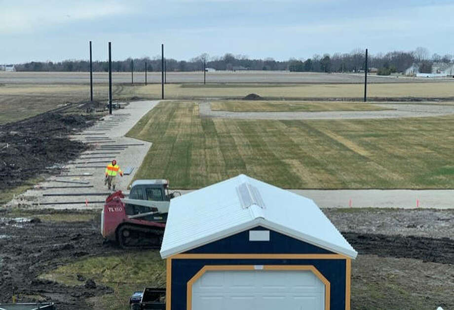 This is a view from the right-field line of the new baseball field at Father McGivney. FMCHS is scheduled to play its first home against Marquette on March 25. Photo: For The Intelligencer