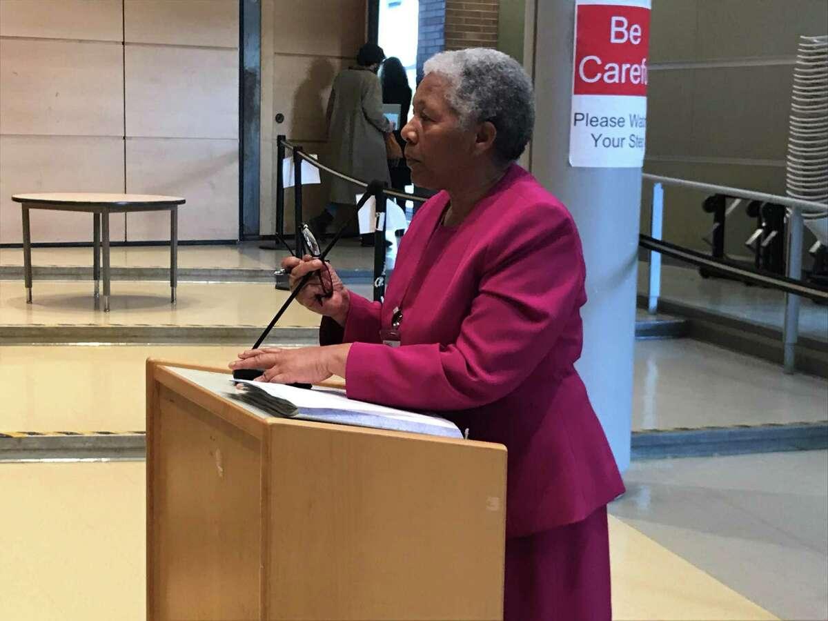 New Haven interim Superintendent of Schools Iline Tracey on March 9, 2020.