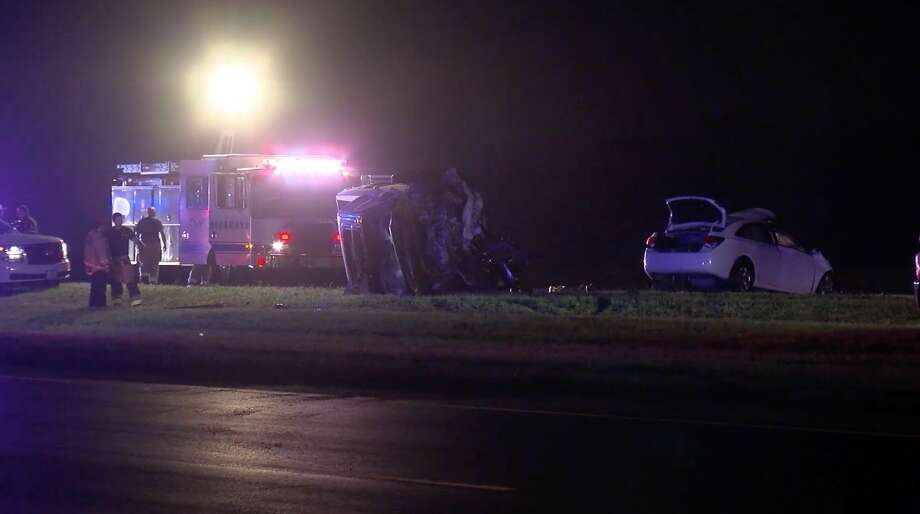 Deputies investigate a deadly wrong-way wreck along the Grand Parkway in Fort Bend County on Tuesday, March 10, 2020. Photo: OnScene.TV