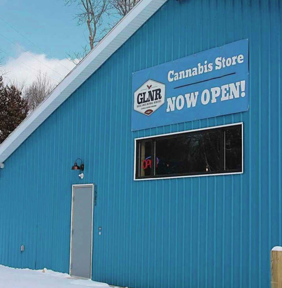 Great Lakes Natural Remedies opened its Benzonia location to dispense medical marijuana in December and expanded to recreational as well last month. Company leaders say they plan to have a similar aesthetic style as the Benzonia building for the Manistee location. Photo: News Advocate/File Photo