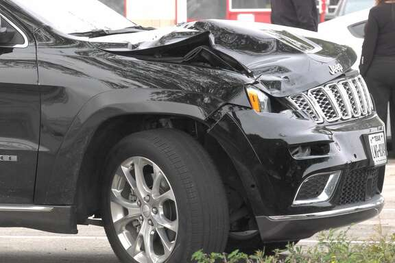 Houston police investigate after a driver struck and killed a woman crossing Westheimer on Tuesday, March 10, 2020.