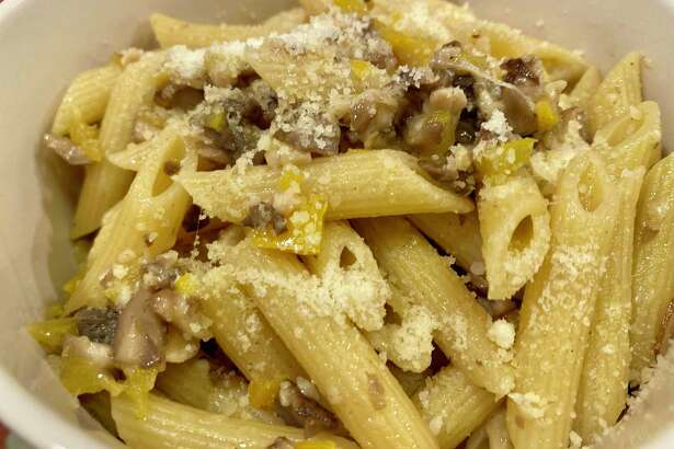 Pantry pasta can be made with leftover vegetables.
