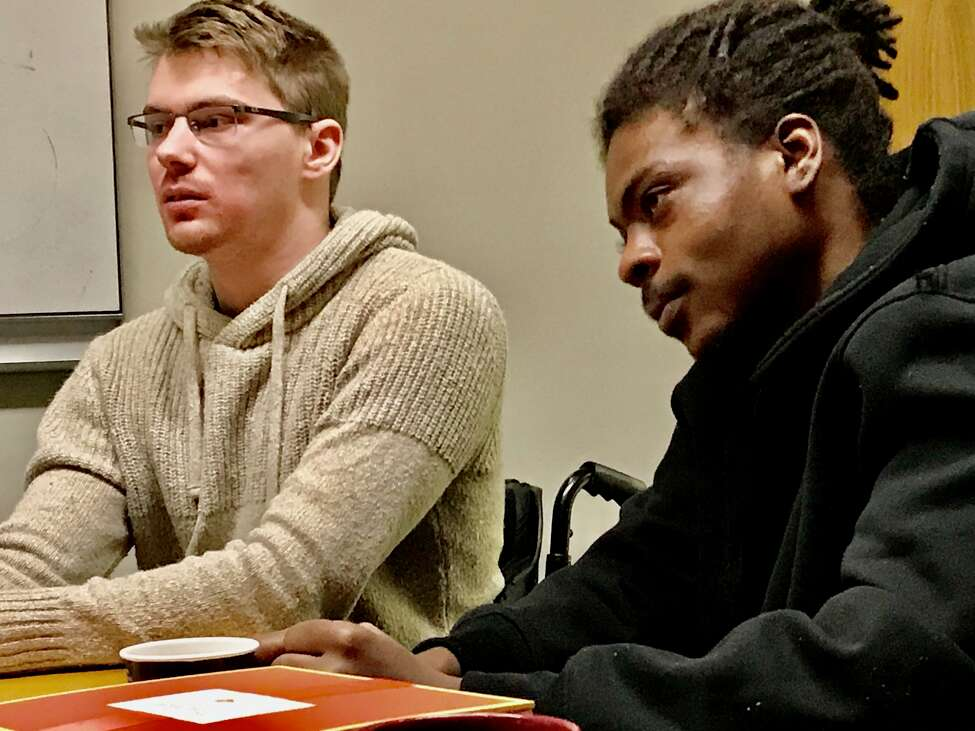 Otto Miller, 22, of Queensbury, who suffered a spinal cord injury four years ago, explains how he has improved his life through intense physical therapy and asking for help when he needs it.