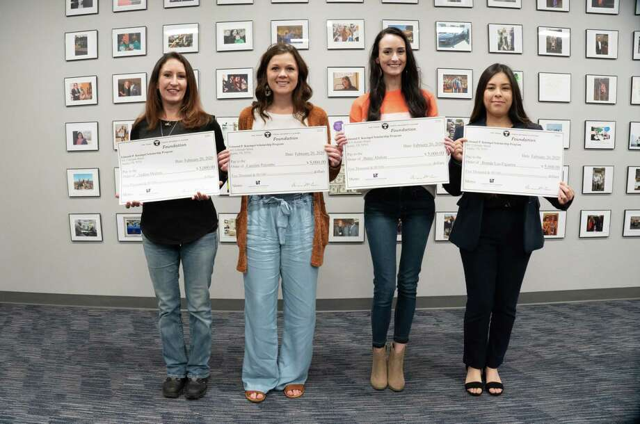 Andrea Meitzen, Caroline Palombo, Haley Abshire and Brenda Lua-Figueroa, all recipients of theEdmund P. Kuempel Scholarship. Photo: Isaac Windes / Lamar Institute Of Technology