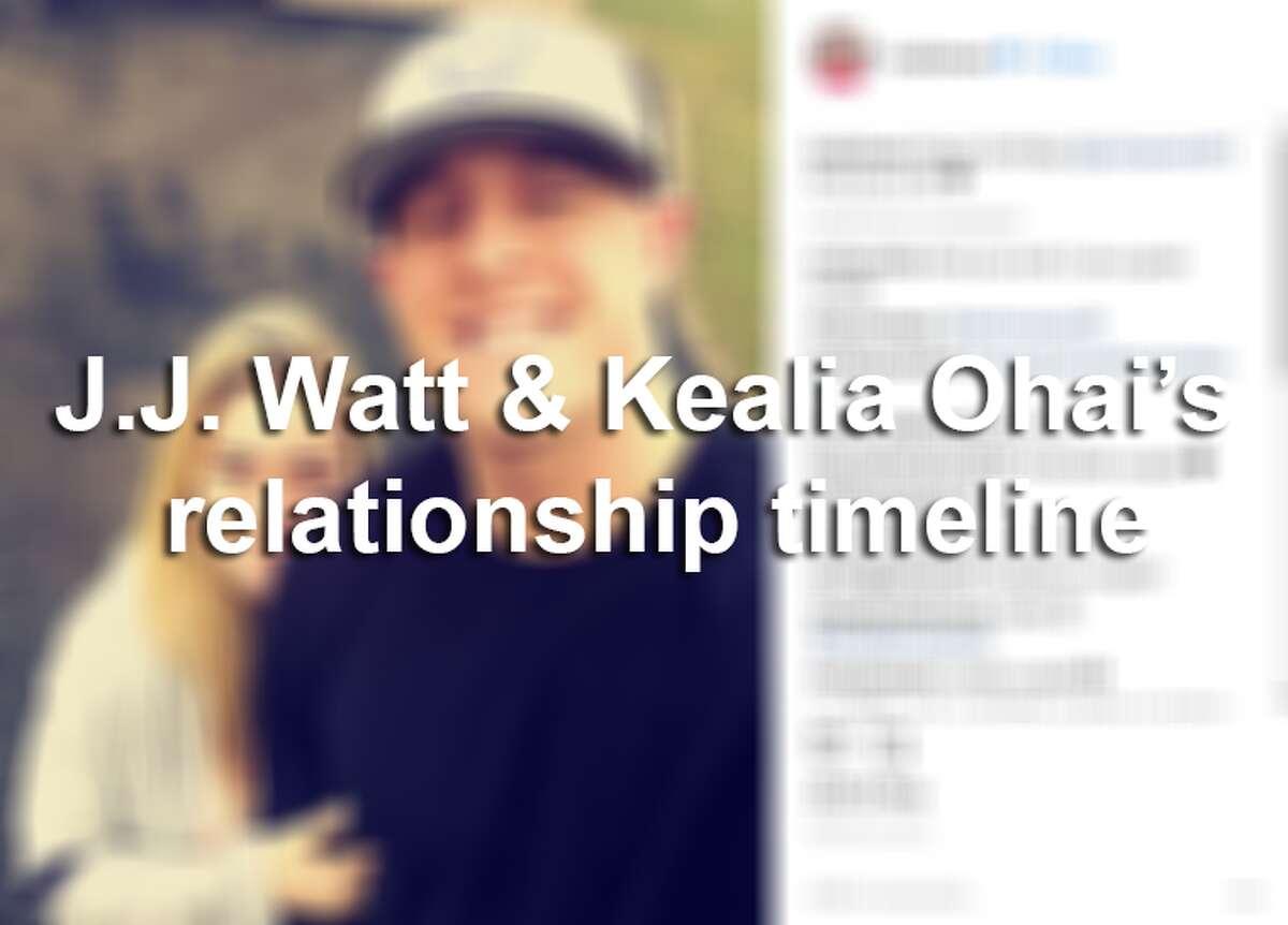 A timeline of J.J. Watt & Kealia Ohai's relationship.