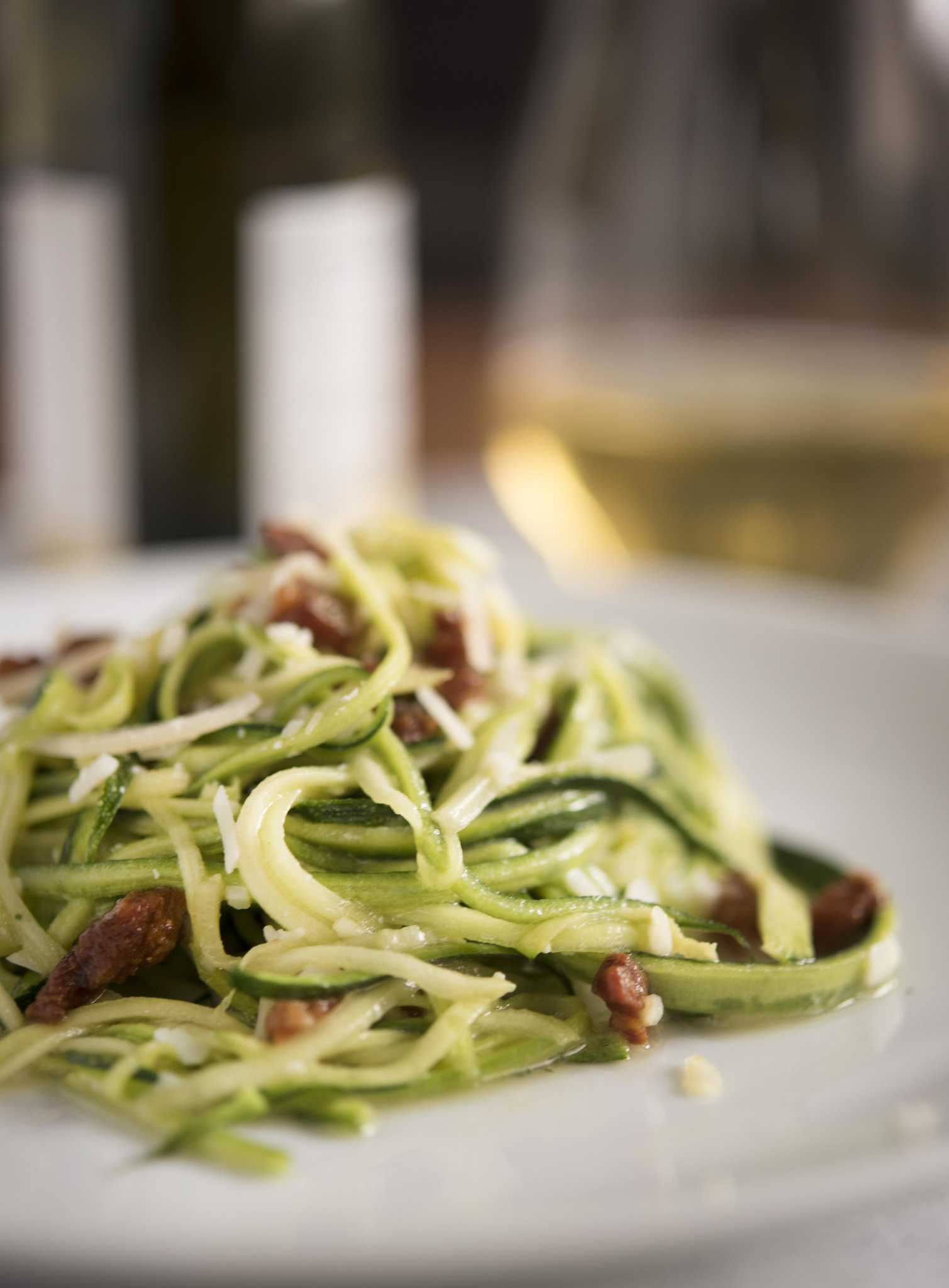 Recipe: Zucchini with Parmesan, pancetta and French lemon vinaigrette