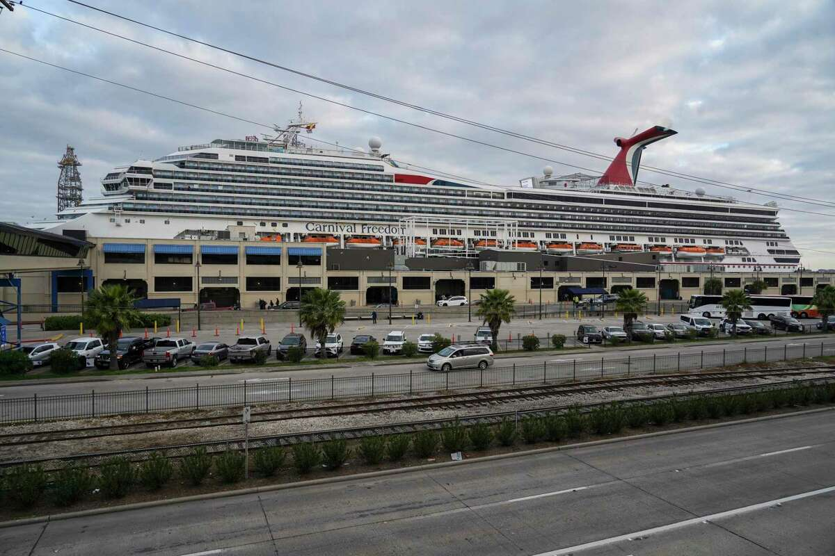 Carnival Cruise Line ship is seen docked at Port of Galveston Cruise Terminal on Sunday March 8, 2020 in Galveston, Texas.The cruise ship was rerouted over worries it wouldn't be able to dock in some Caribbean ports because many destinations are tightening entry policies amid growing global concern over the COVID-19 outbreak.