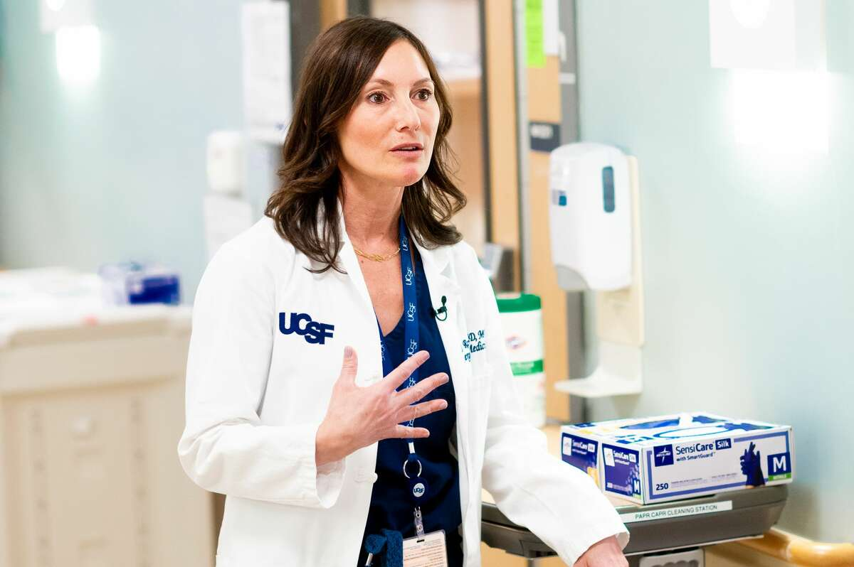 Dr. Maria Raven is the chief of emergency medicine at UCSF.