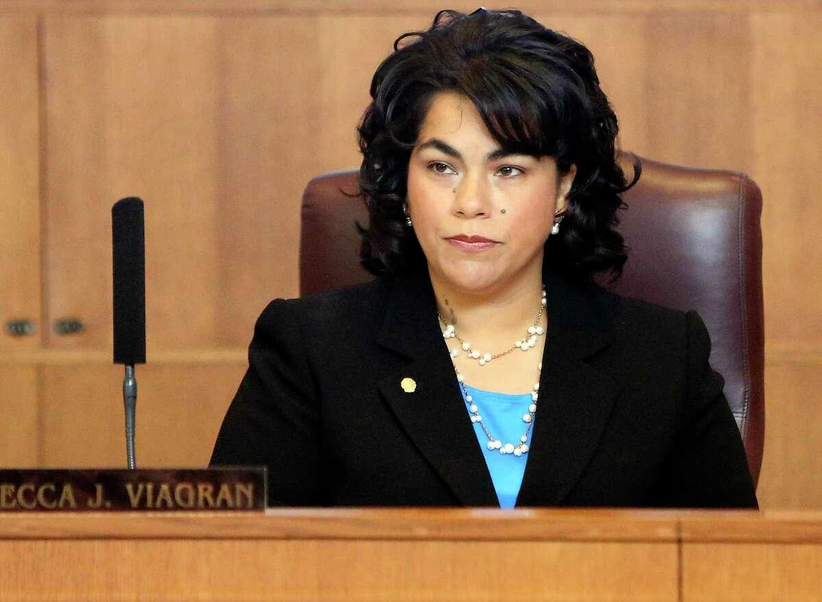 Councilwoman Rebecca Viagran listens at a City Council meeting in June 2013.