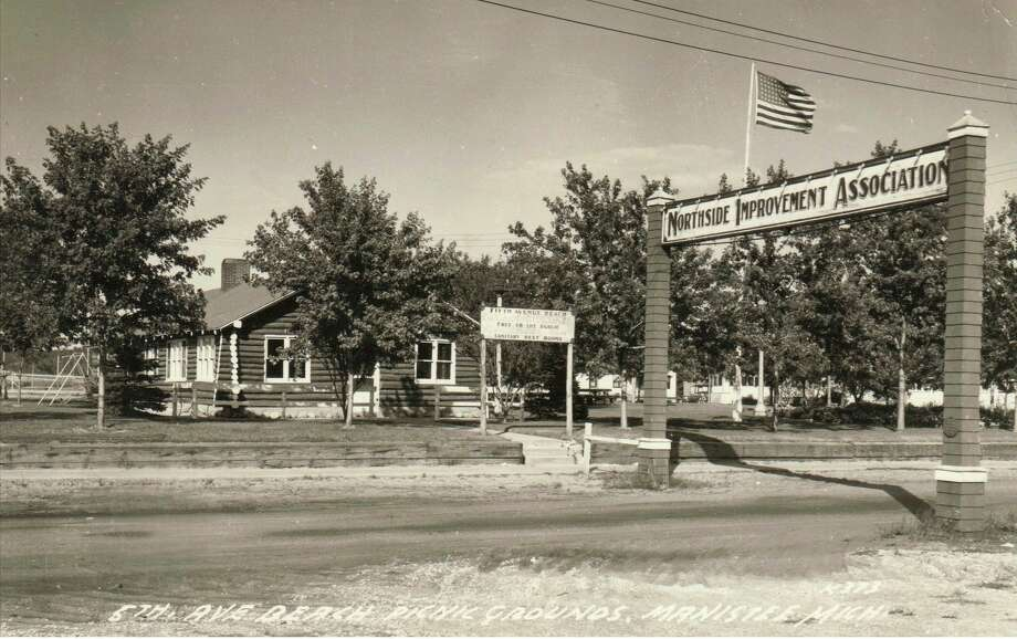 The Northside Improvement Association building that was located at Fifth Avenue Beach is shown in this 1950s photograph.