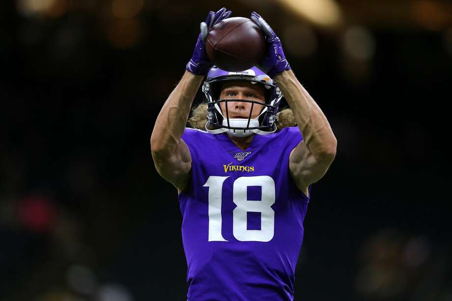 NEW ORLEANS, LOUISIANA - AUGUST 09: Jordan Taylor #18 of the Minnesota Vikings warms up before a preseason game against the New Orleans Saints at the Mercedes Benz Superdome on August 09, 2019 in New Orleans, Louisiana. (Photo by Jonathan Bachman/Getty Images) Photo: Jonathan Bachman/Getty Images