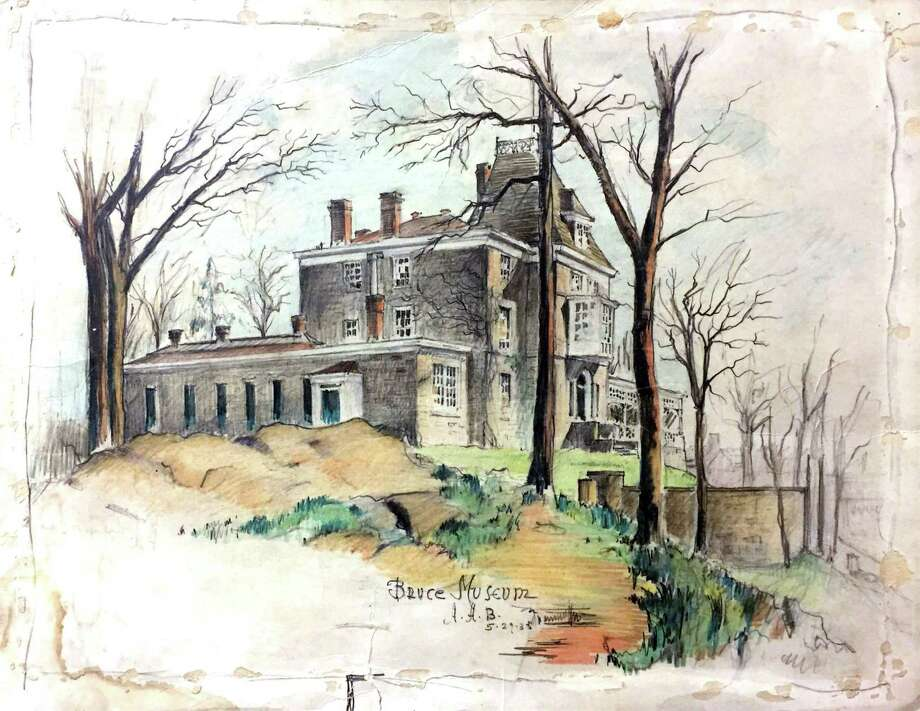 """""""House on the Hill: The Changing Face of the Bruce Museum,"""" exploring how the Greenwich site has changed over time, is running April 4-May 31. Pictured is a colored pencil drawing by architect Albert A. Blodgett, 1935. Photo: Bruce Museum Collection / Contributed Photo"""