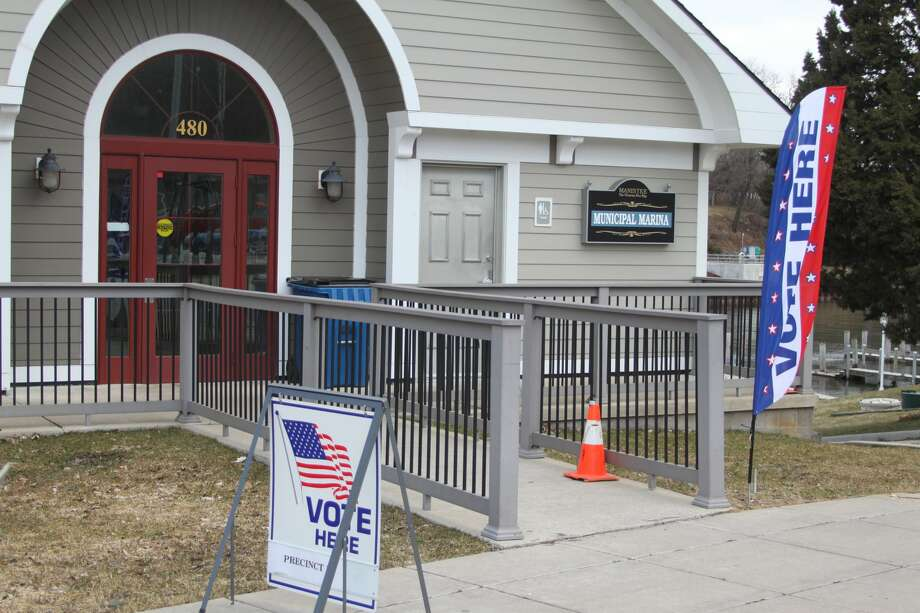 Polls are open in Manistee County for the presidential primary until 8 p.m. on March 10, 2020. Photo: Ken Grabowski/News Advocate