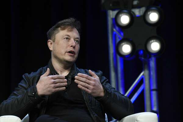 Tesla and SpaceX Chief Executive Officer Elon Musk speaks at the SATELLITE Conference and Exhibition in Washington, Monday, March 9, 2020. (AP Photo/Susan Walsh)