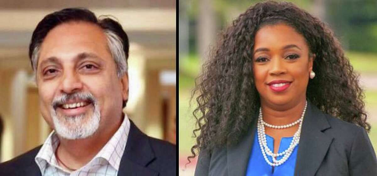 Suleman Lalani (left) and L. Sarah DeMerchant (right) will compete for the Democratic nomination in the upcoming runoff election