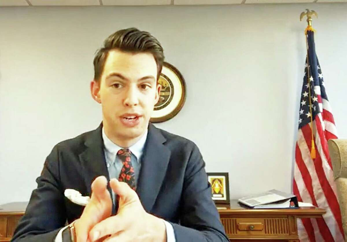 Middletown Mayor Ben Florsheim conducts a Facebook Live session recently to update residents about prevention and preparation efforts being undertaken in the possibility a coronavirus outbreak affects the city.