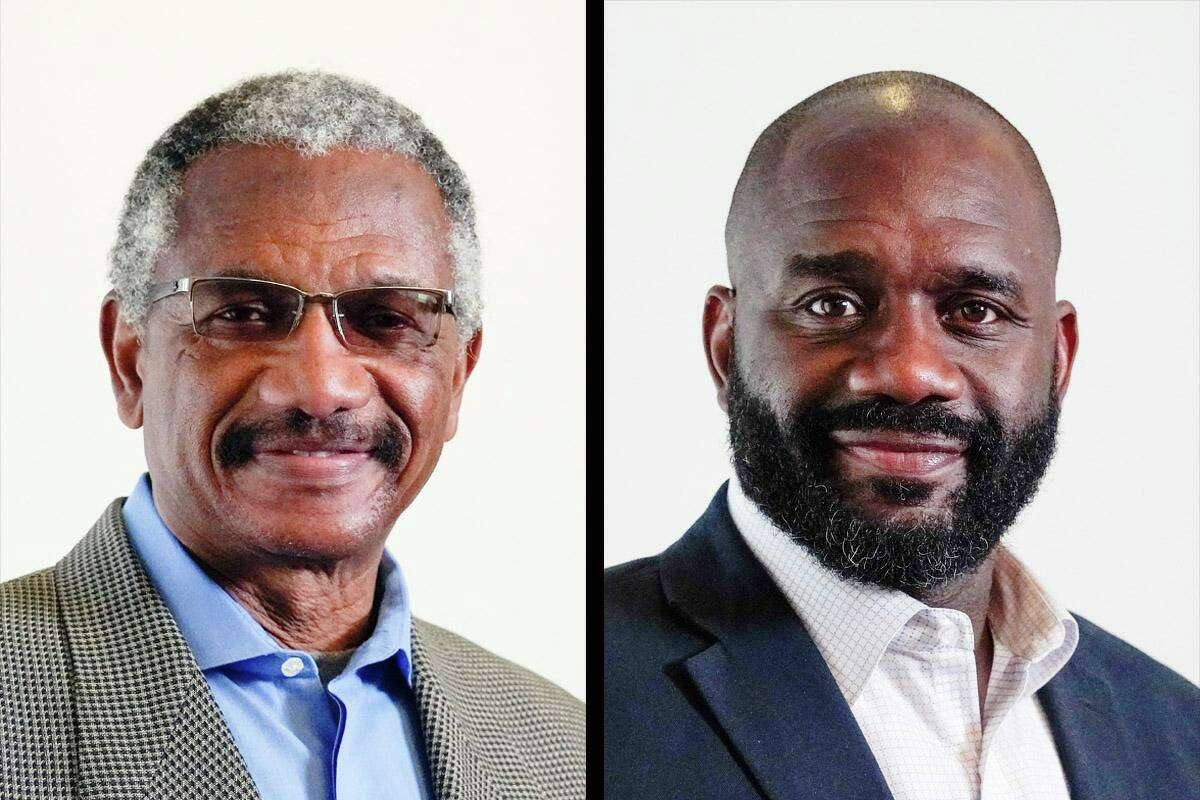 """Harold V. Dutton Jr., left, and Jerry Davis, right, faced off in a July runoff to be the Democratic nominee for House District 142. The runoff was forced after a """"ghost"""" candidate pulled 20 percent of the vote in the March primary."""