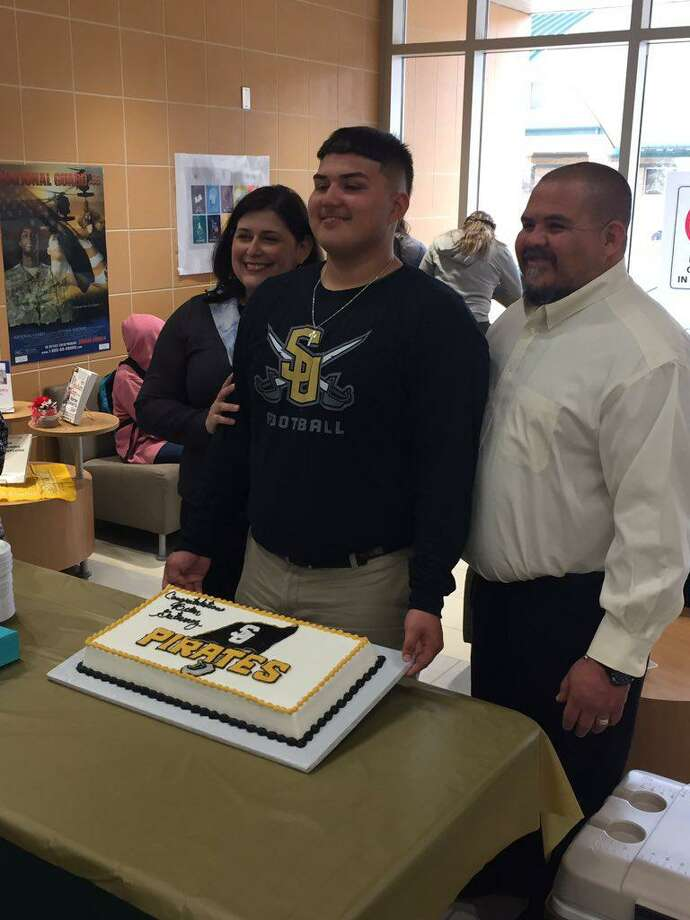 Nixon offensive lineman Brian Gutierrez committed Tuesday to continue his career at Southwestern University. Photo: Courtesy Photo