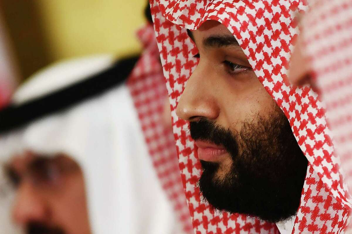 """President Donald Trump discussed """"global energy markets"""" with Saudi Crown Prince Mohammed Bin Salman, the White House said on March 10, 2020, after a deep plunge in oil prices shook markets worldwide. The White House statement said Trump spoke with the crown prince on Monday but gave few details on the substance of their discussions,""""The president and the crown prince discussed global energy markets and other critical regional and bilateral issues,"""" it said."""