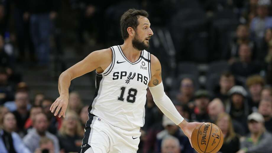 San Antonio Spurs guard Marco Belinelli (18) during the second half of an NBA basketball game against the Dallas Mavericks in San Antonio, Wednesday, Feb. 26, 2020. (AP Photo/Eric Gay) Photo: Eric Gay, Associated Press