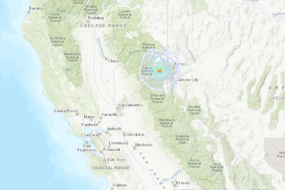 A magnitude-3.8 earthquake struck near the California-Nevada border on Tuesday night. Photo: USGS