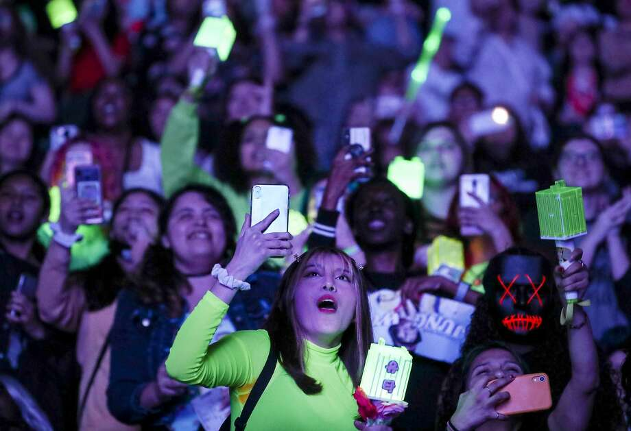 Fans cheered as the South Korean band NCT 127 performed on March 10 at NRG Stadium. Attendance that day was more than 64,000. Photo: Jon Shapley, Staff Photographer / © 2020 Houston Chronicle