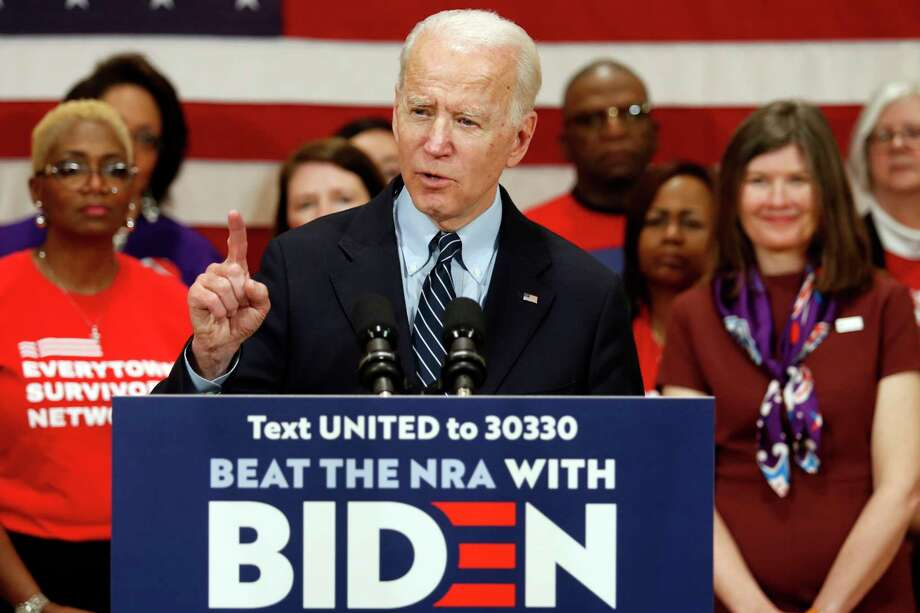 Joe Biden: He caught up with Sanders in a major bastion of Bernie support. Big wins in Michigan, Missouri, Mississippi.(AP Photo/Paul Vernon) Photo: Paul Vernon / FR66830 AP