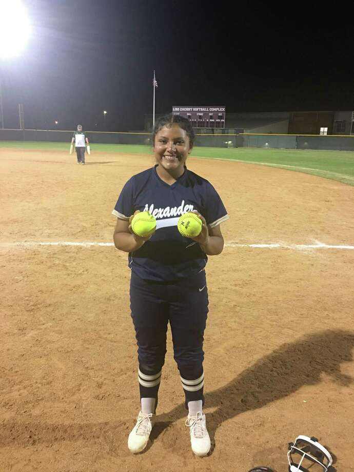 Krista Gamez hit two home runs and earned the victory Tuesday for Alexander. Photo: Courtesy Of Alexander Athletics
