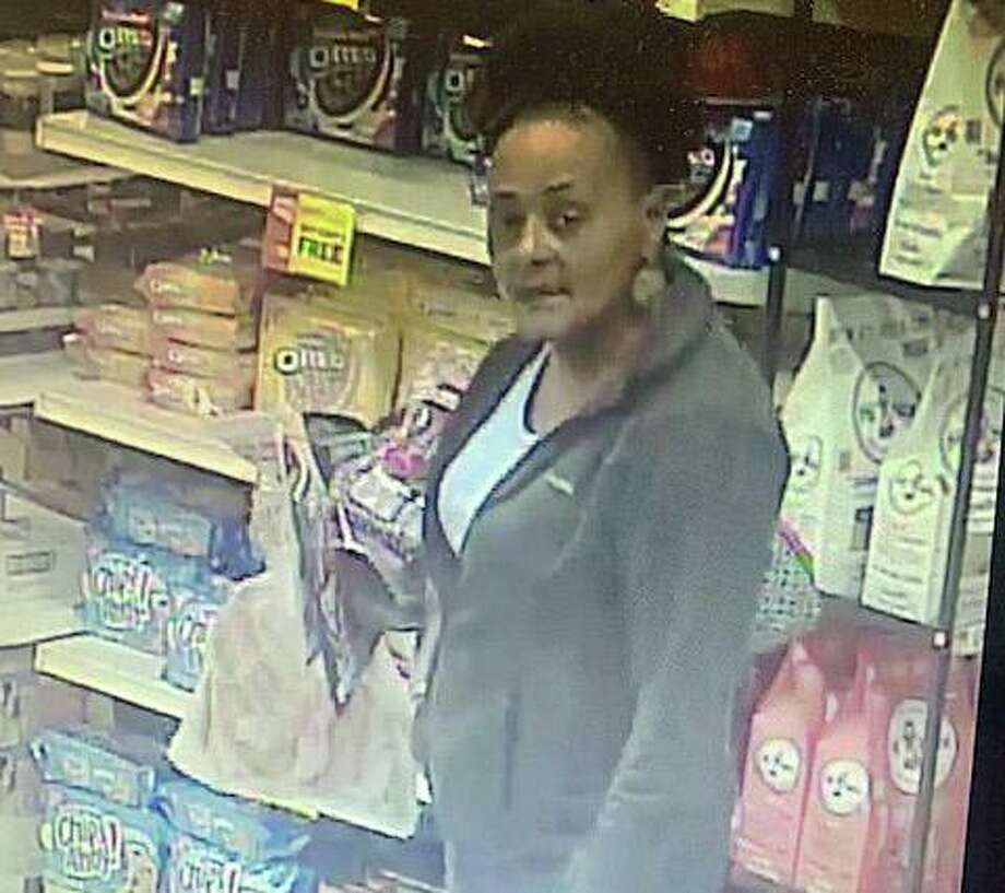 Hamden police have asked the public to help identify two people who stole $460 worth of seafood from Stop & Shop on Monday, March 10, 2020. The theft happened around 8:45 p.m. at the Dixwell Avenue store. Their shoplifting list included 10 packages of lobster tails, seven bags of shrimp, five bags of extra-large shrimp, a bag a crab legs and six steaks. Photo: Hamden Police Photo