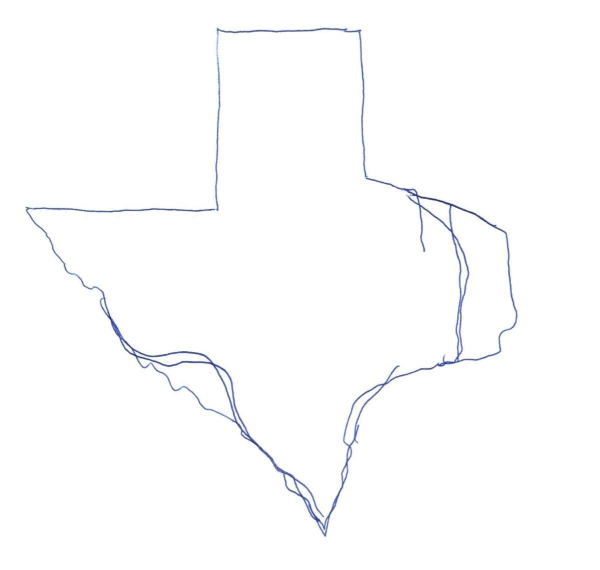 The pretty-accurate-but-it-took-a-couple-tries Texas.