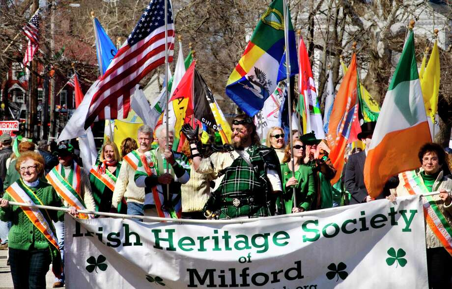 Milford St. Patrick's Day Parade--The Irish Heritage Society walks the route. SocietyMelanie Stengel/Register mstengel@nhregister.com