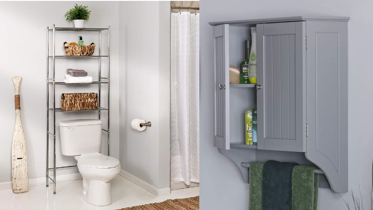 10 Above Toilet Storage Solutions For Under 100