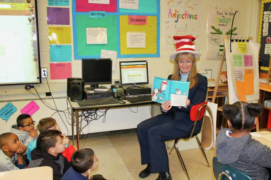 "At this recent ""Read Across America"" event featuring Mayor Nancy Rossi, Savin Rock Community School Principal Taryn Driend announced the school had been named a School of Distinction by the state's Department of Education. Photo: Contributed Photo / Contributed Photo"