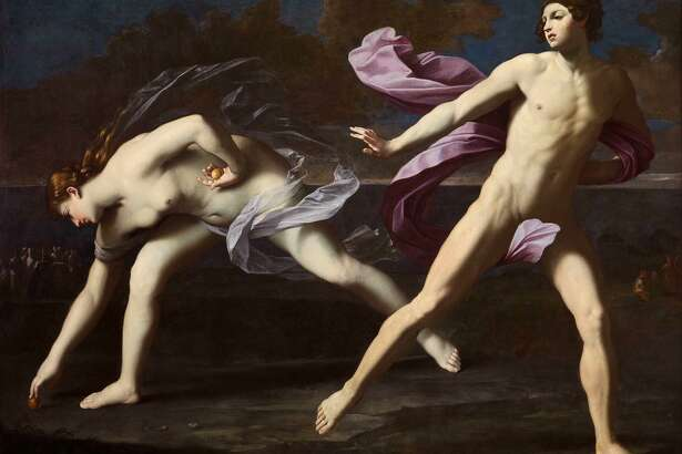 """Guido Reni's """"Atalanta and Hippomenes"""" (c. 1620-25, oil on canvas ) is among works on view in """"Flesh and Blood: Italian Masterpieces from the Capodimonte Museum"""" at the Kimbell Art Museum in Fort Worth, March 1-June 14."""