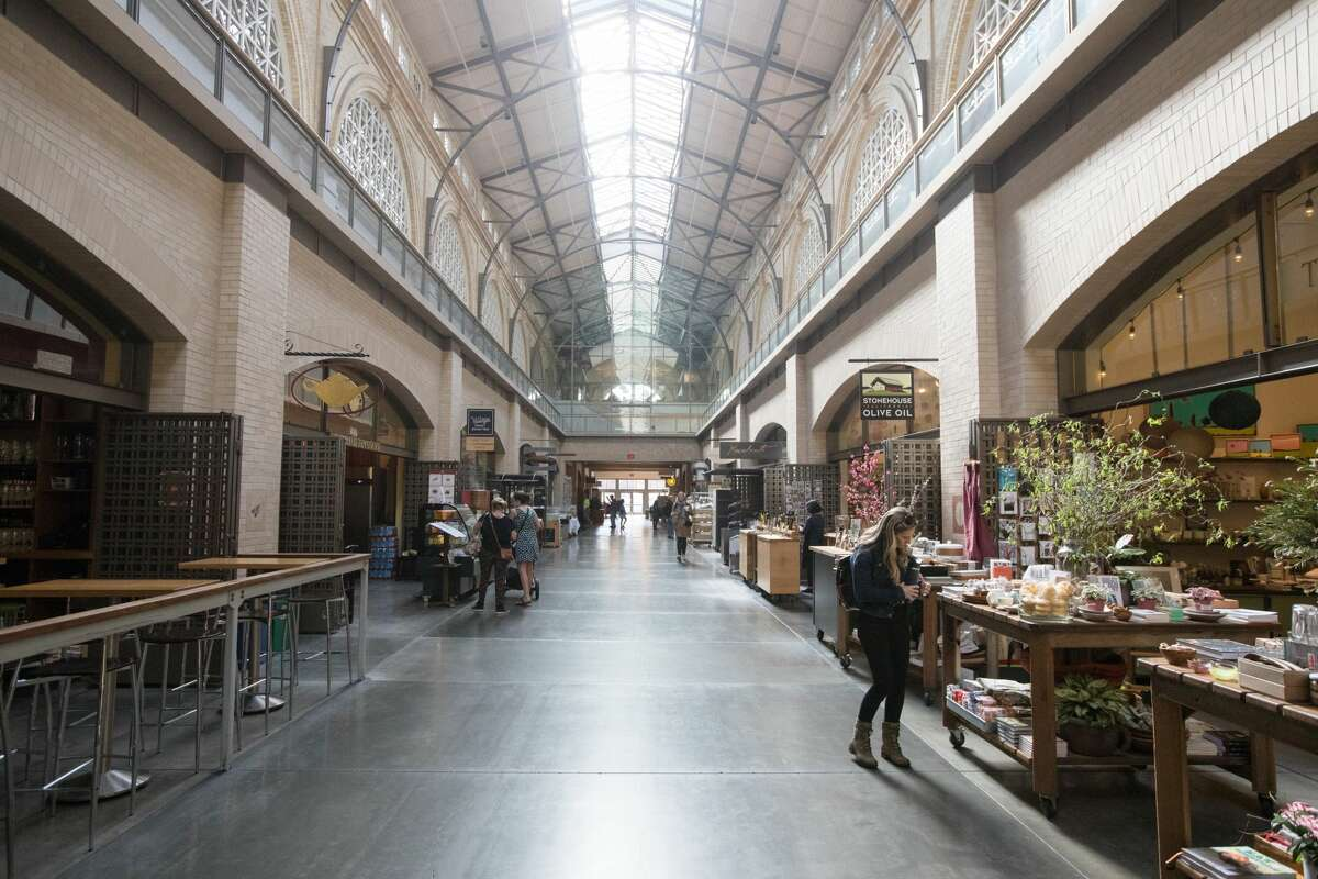 The Ferry Building was unusally quiet in San Francisco, Calif. on March 10, 2020. Because of coronavirus concerns, the streets in San Francisco were less crowded. Many employers encouraged workers to stay at home.