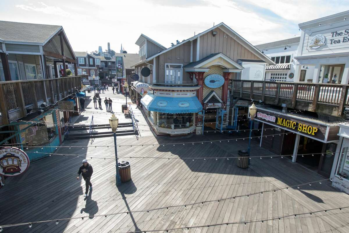 BEFORE: Pier 39 had an unusually light number of visitors in San Francisco on March 10, 2020. Tourist numbers were down in the city because of coronavirus concerns and the cancellation of tours from Asian and European visitors to San Francisco.
