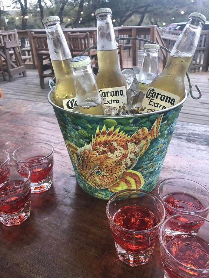 """151 Saloon, a bar and dancehall, is promoting a special called the """"Pandemic"""" this week, presumably referring to coronavirus, the disease that has infected and killed thousands worldwide. For $20, patrons will receive a bucket of six Corona beers and six shots of """"Antidote,"""" according to social media posts. Photo: Courtesy, 151 Saloon"""