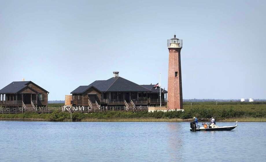 The Aransas Pass Lighthouse is a historical fixture near Port Aransas. Photo: Bob Owen / ©2020 San Antonio Express-News