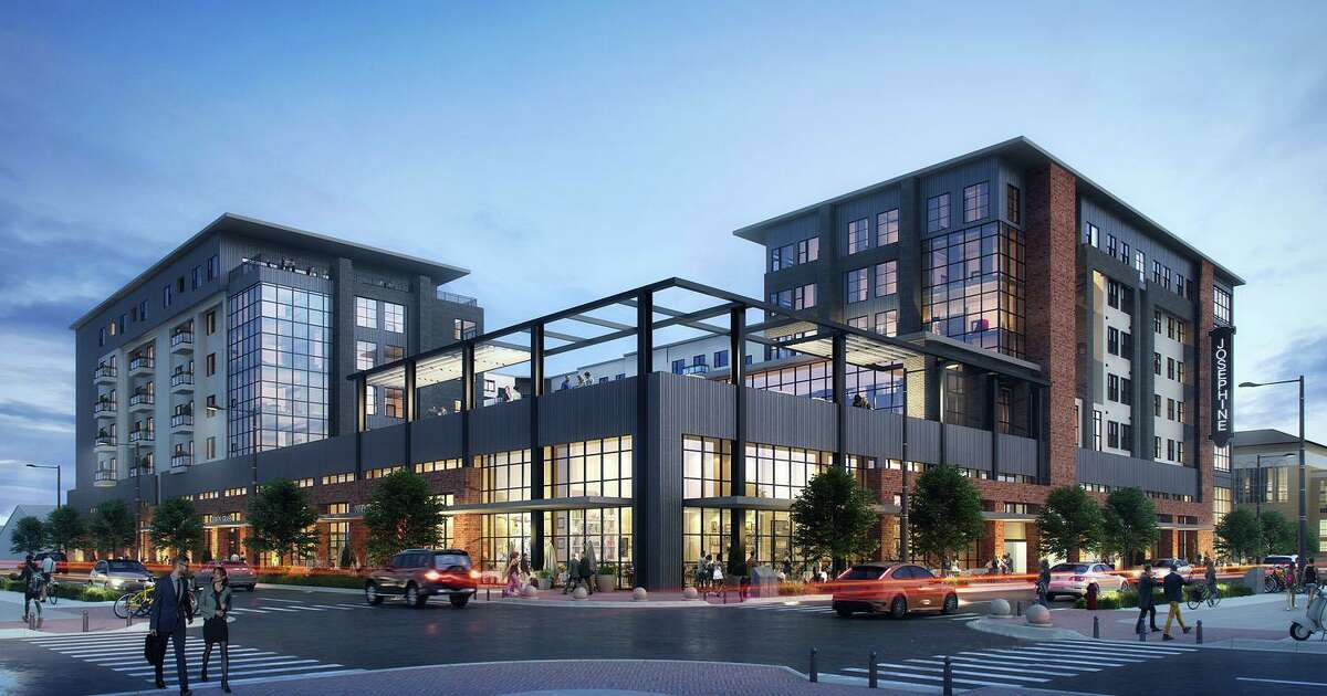 A rendering of the mixed-use project Fulcrum Development and Lynd are planning in Tobin Hill.