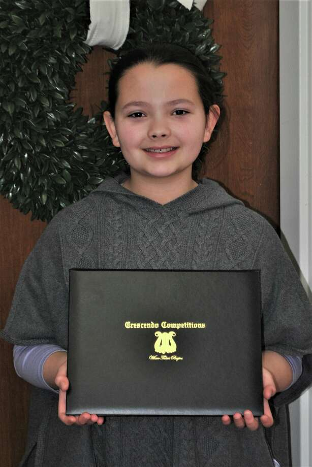 Lucia Trudo, a fifth grader at King Street Elementary School in Danbury, was chosen to paly piano at Carnegie Hall in February 2020. Photo: Danbury Public Schools