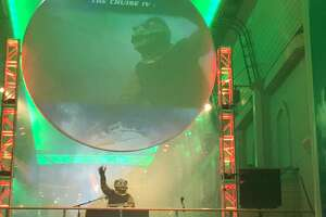 """A Gorn deejay spins tunes on the """"Star Trek"""" cruise (photo by Amy Biancolli)"""