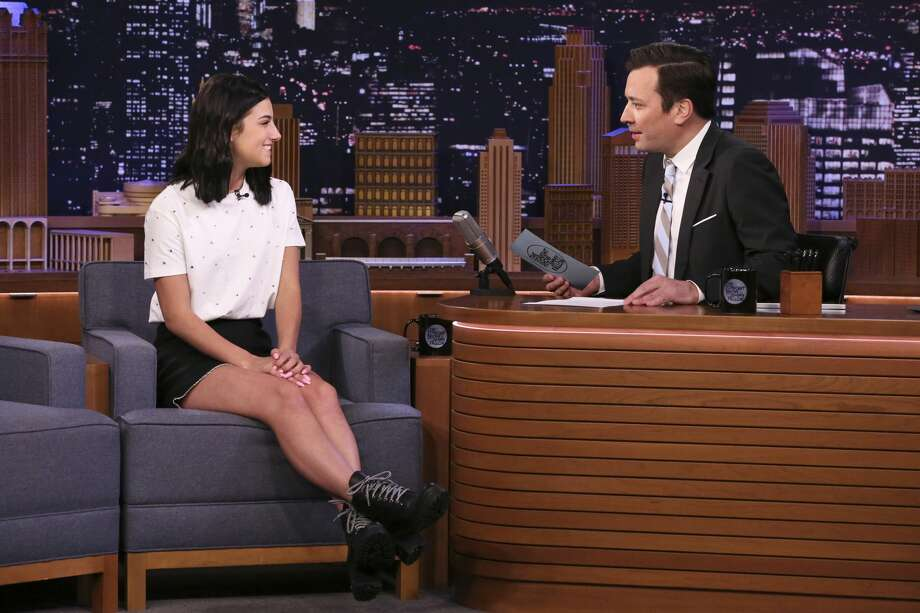 THE TONIGHT SHOW STARRING JIMMY FALLON -- Episode 1222 -- Pictured: (l-r) Dancer Charli D'Amelio during an interview with host Jimmy Fallon on March 10, 2020 -- (Photo by: Andrew Lipovsky/NBC/NBCU Photo Bank via Getty Images) Photo: NBC/NBCU Photo Bank Via Getty Images