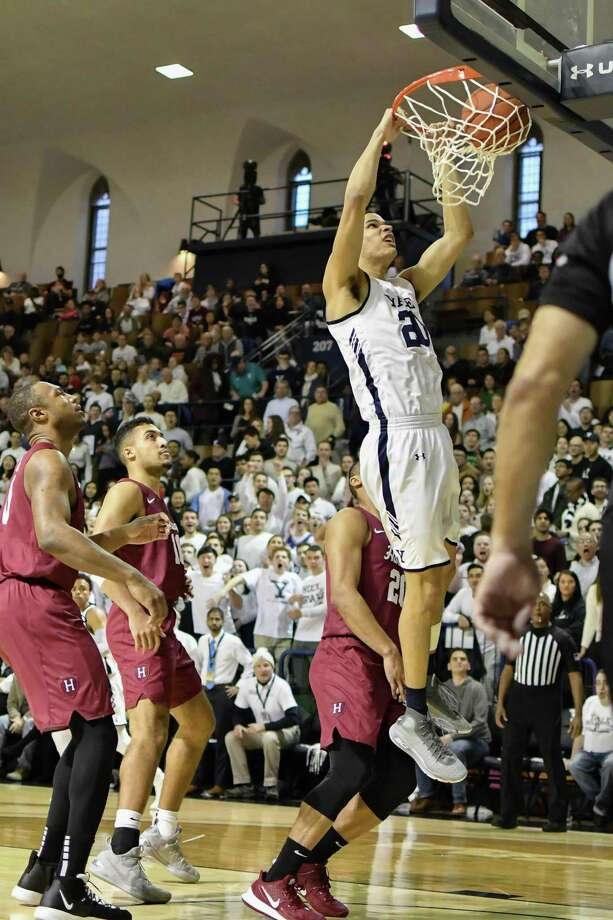 After one of the best seasons in Yale men's basketball history, Paul Atkinson announces that he plans to return for his senior season less than two months after declaring for the NBA Draft. Photo: Gregory Vasil / For Hearst Connecticut Media / Connecticut Post Freelance